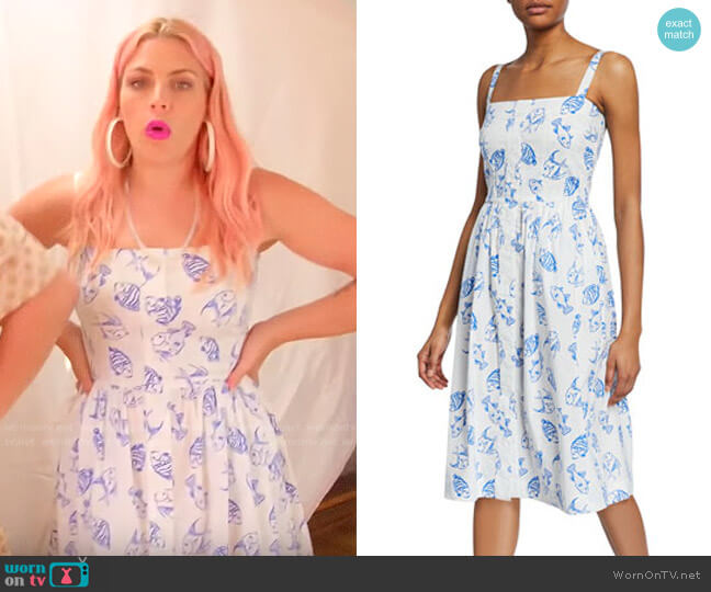 HVN Laura Fish Print Dress worn by Busy Philipps  on Busy Tonight