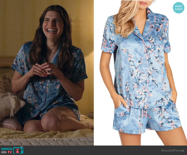 In Bloom by Jonquil Satin Short Pajamas worn by Rio (Lake Bell) on Bless This Mess
