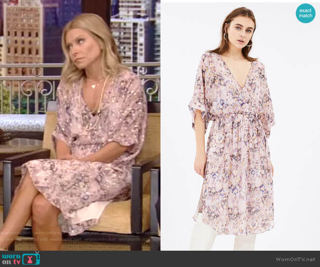 Petunia Dress by Iro worn by Kelly Ripa  on Live with Kelly & Ryan
