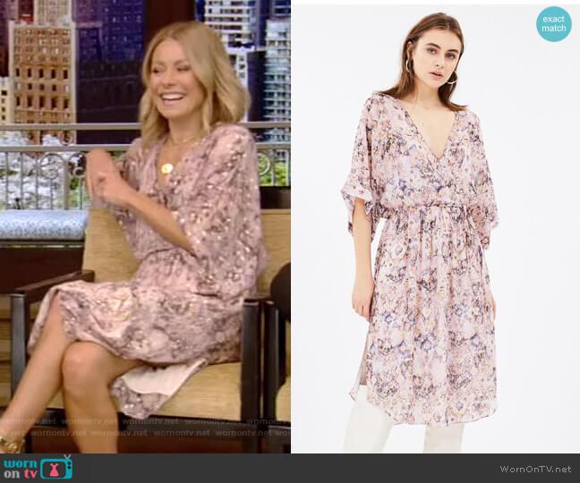 Petunia Dress by Iro worn by Kelly Ripa (Kelly Ripa) on Live with Kelly & Ryan