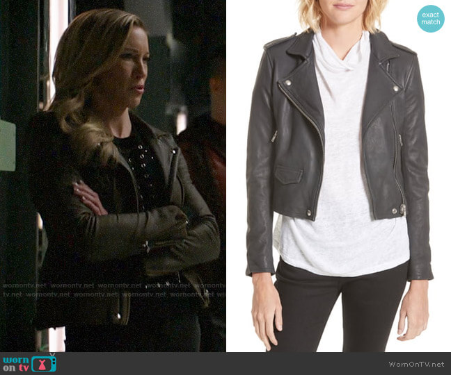 IRO Ashville Jacket worn by Laurel Lance (Katie Cassidy) on Arrow