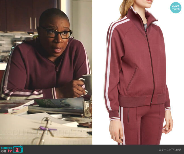 Darcey Track Jacket by Isabel Marant Etoile worn by Henrietta Wilson (Aisha Hinds) on 9-1-1