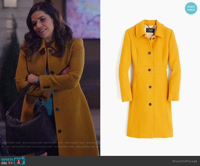 J. Crew Italian double-cloth wool lady day coat worn by Amy (America Ferrera) on Superstore