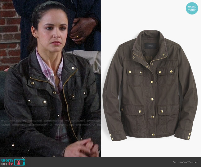J. Crew The Downtown Field Jacket worn by Amy Santiago (Melissa Fumero) on Brooklyn Nine-Nine