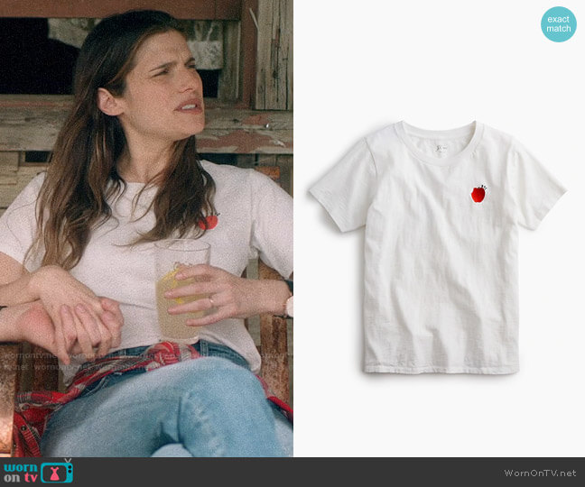 J. Crew The Big Apple T-shirt worn by Rio (Lake Bell) on Bless This Mess