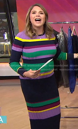 Jenna's multicolored striped dress on Today