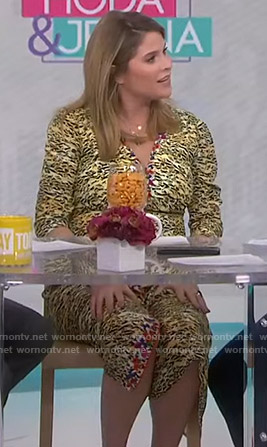 Jenna's yellow tiger print dress on Today