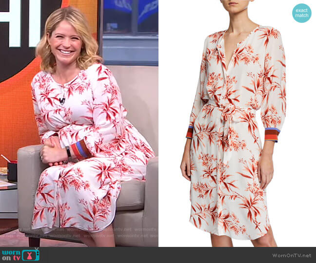 Jeanee Dress by Joie worn by Sara Haines  on Good Morning America