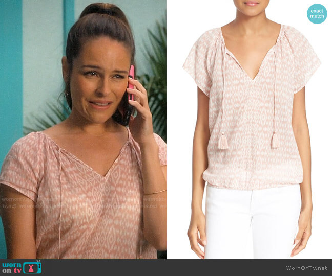 Joie Dolan Top worn by Luisa Alver (Yara Martinez) on Jane the Virgin