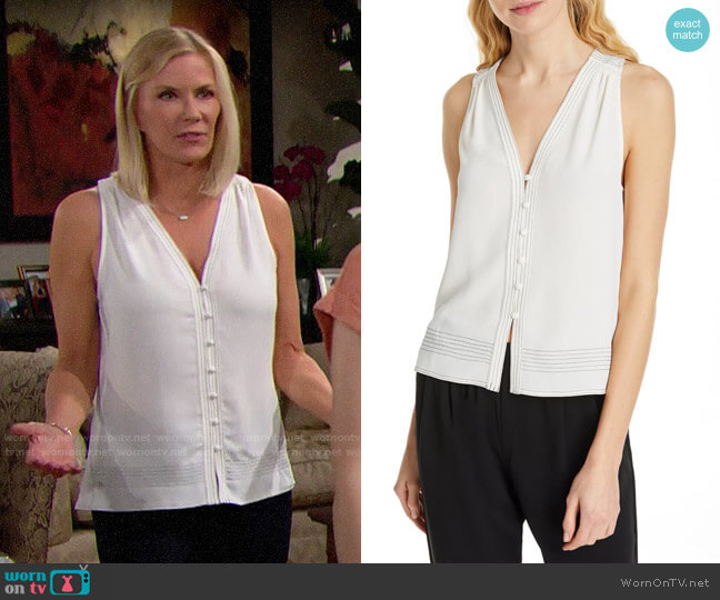 Joie Tadita Top worn by Brooke Logan (Katherine Kelly Lang) on The Bold & the Beautiful