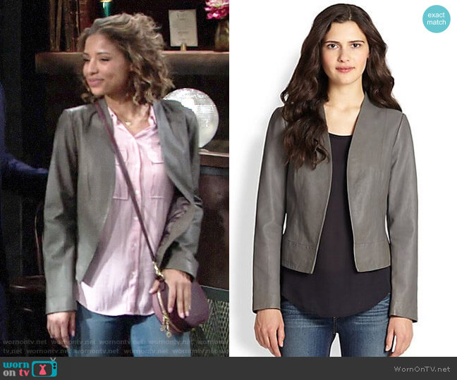 Joie Venette Jacket worn by Elena Dawson (Brytni Sarpy) on The Young & the Restless
