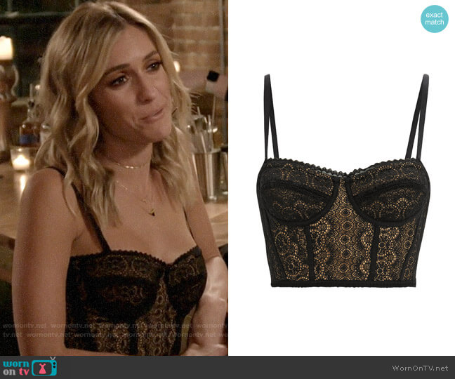 Jonathan Simkhai Lace Bustier worn by Kristin Cavallari  on Very Cavallari