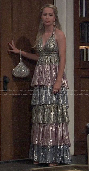 Josslyn's tiered Nurse's Ball gown on General Hospital
