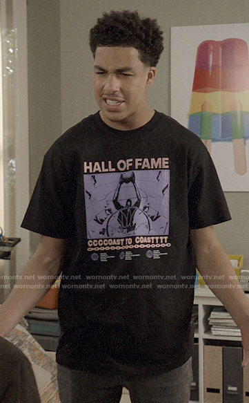 Junior's Hall of Fame graphic tee on Black-ish