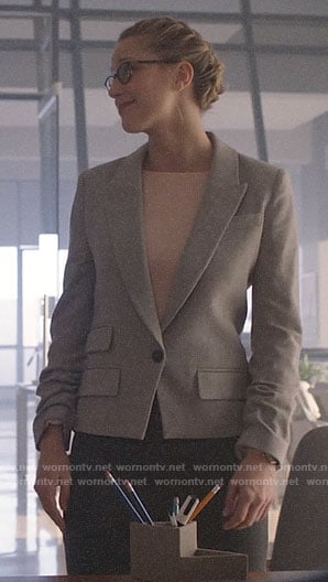 Kara's grey blazer on Supergirl