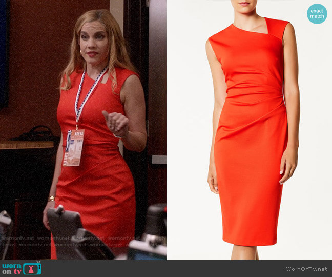 Karen Millen Asymmetric Neckline Dress worn by Amy Brookheimer (Anna Chlumsky) on Veep