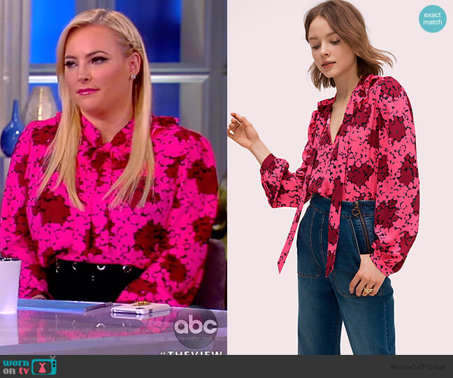 Bubble Dot Blouse by Kate Spade worn by Meghan McCain  on The View