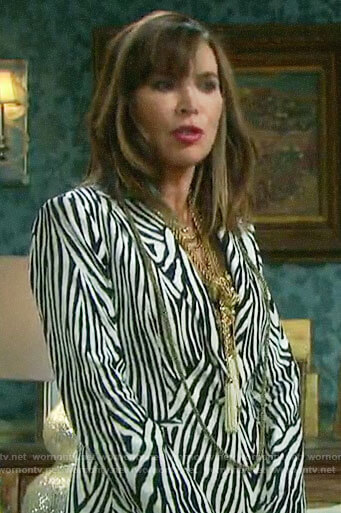 Kate's zebra print blazer on Days of our Lives