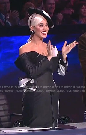 Katy's black polka dot gown on American Idol