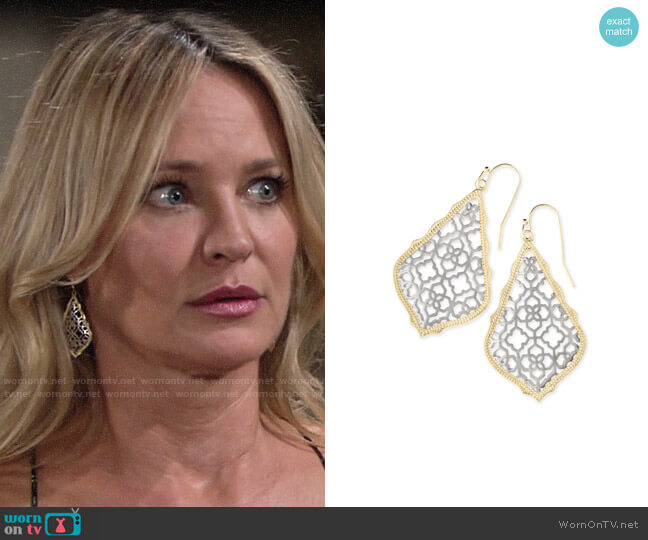 Kendra Scott Addie Earrings worn by Sharon Collins (Sharon Case) on The Young & the Restless