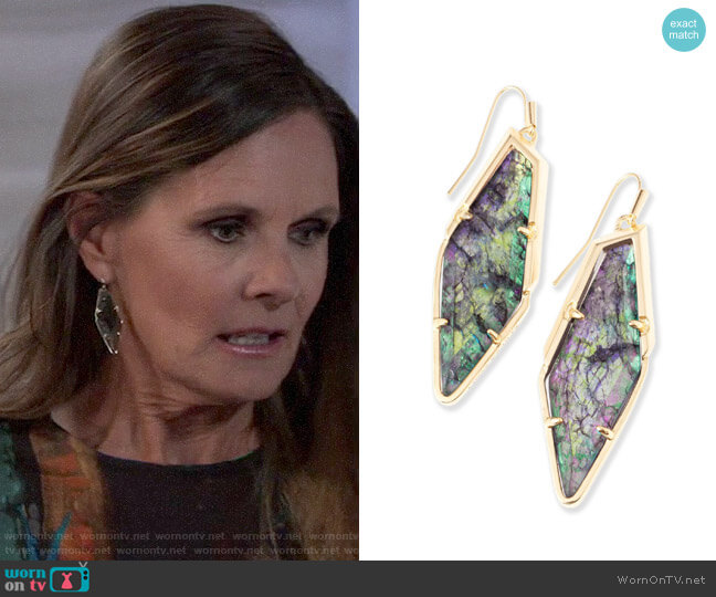 Kendra Scott Bexley Earrings worn by Lucy Coe (Lynn Herring) on General Hospital