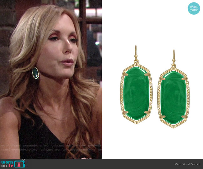 Kendra Scott Elle Earrings worn by Lauren Fenmore (Tracey Bregman) on The Young & the Restless