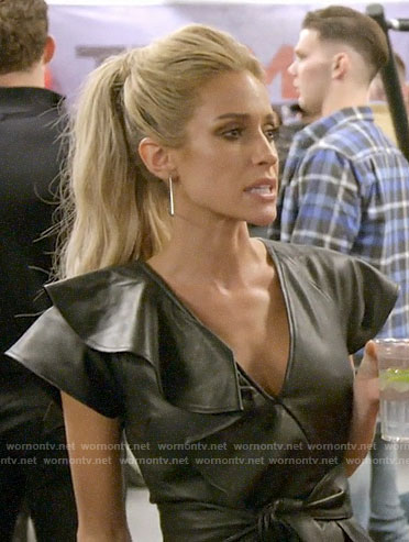 Kristin's leather ruffle sleeve dress on Very Cavallari