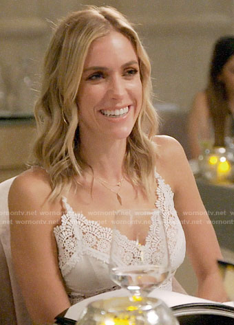 Kristin's white lace cami on Very Cavallari