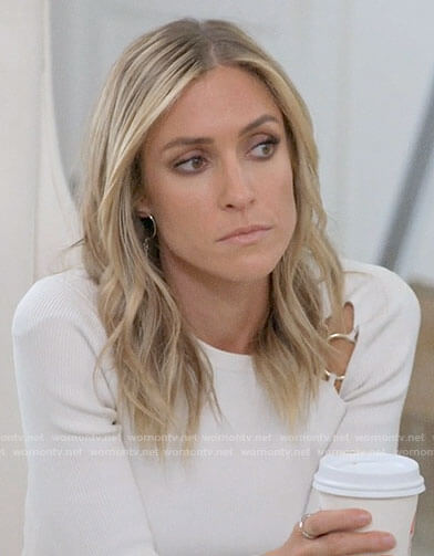 Kristin's white ring detail top on Very Cavallari