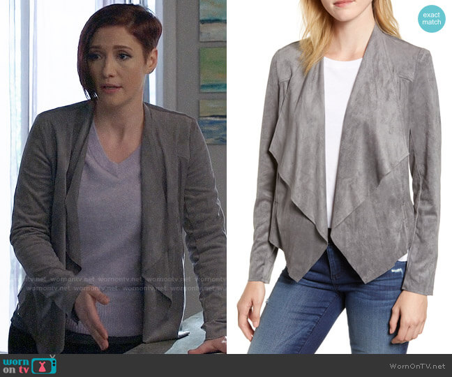 KUT from Kloth Tayanita Faux Suede Jacket worn by Alex Danvers (Chyler Leigh) on Supergirl