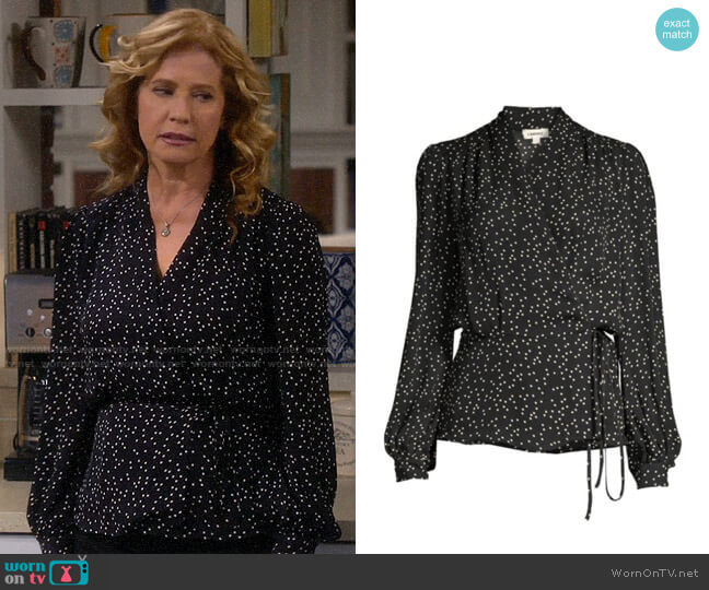 L'Agence Cara Blouse worn by Vanessa Baxter (Nancy Travis) on Last Man Standing