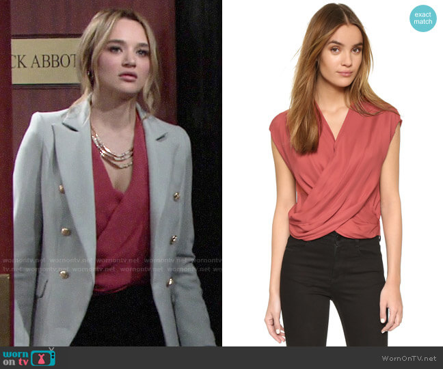 L'Agence Lee Blouse worn by Summer Newman (Hunter King) on The Young & the Restless