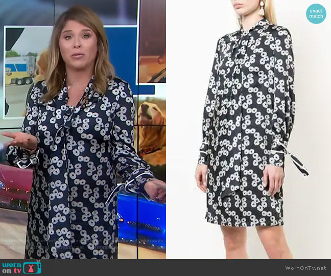 Short Printed Dress by Lela Rose worn by Jenna Bush Hager  on Today