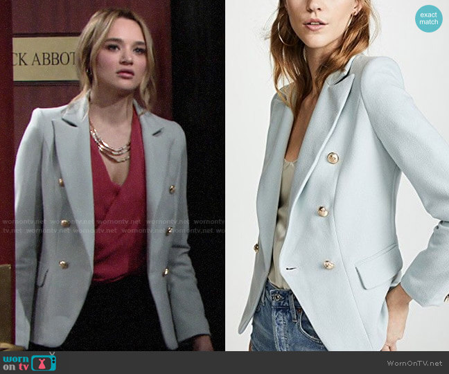 Lioness Palermo Blazer worn by Summer Newman (Hunter King) on The Young & the Restless