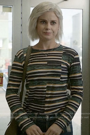 Liv's broken stripe long sleeve tee on iZombie