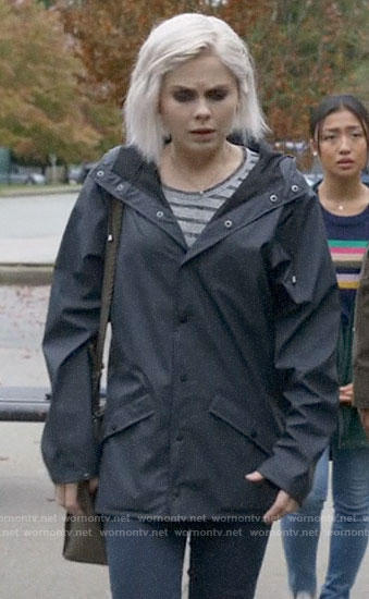 Liv's navy rain jacket on iZombie