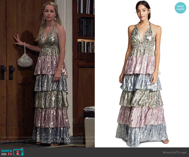 LoveShackFancy Clarissa Gown worn by Josslyn Jacks (Eden McCoy) on General Hospital