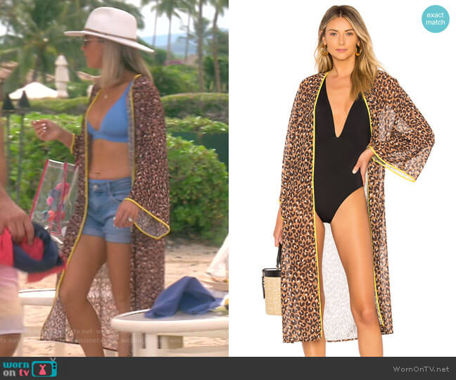 The Dunn Kimono by Lovewave worn by Teddi Mellencamp Arroyave  on The Real Housewives of Beverly Hills