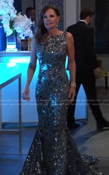 Lucy's sequin Nurse's Ball gown on General Hospital