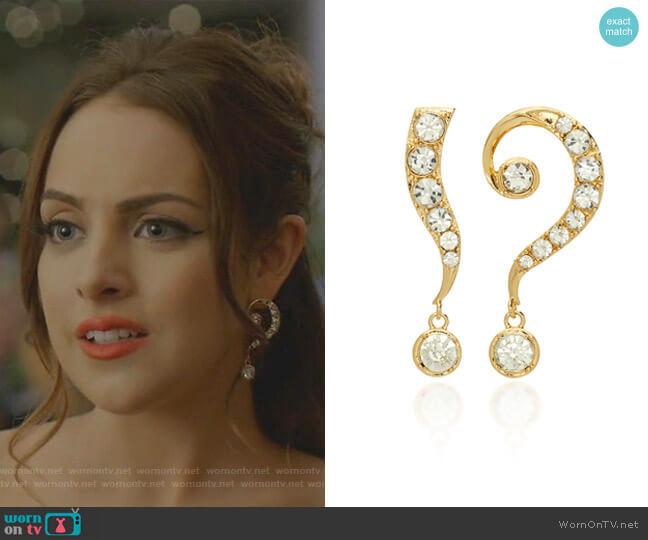 Kismet Drop Earrings by Lulu Frost worn by Fallon Carrington (Elizabeth Gillies) on Dynasty
