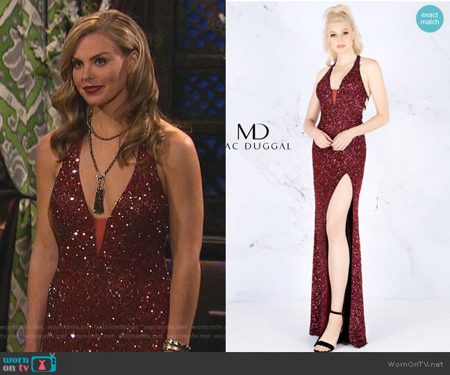 Dress #4811L by Mac Duggal worn by Hannah Brown  on The Bachelorette