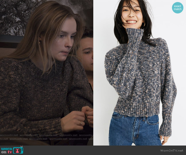 Pleat-Shoulder Pullover Sweater by Madewell worn by Elle (Olivia DeJone) on The Society