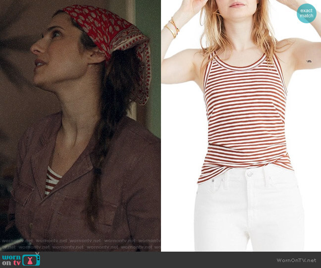 Madewell Audio Stripe Tank worn by Rio (Lake Bell) on Bless This Mess
