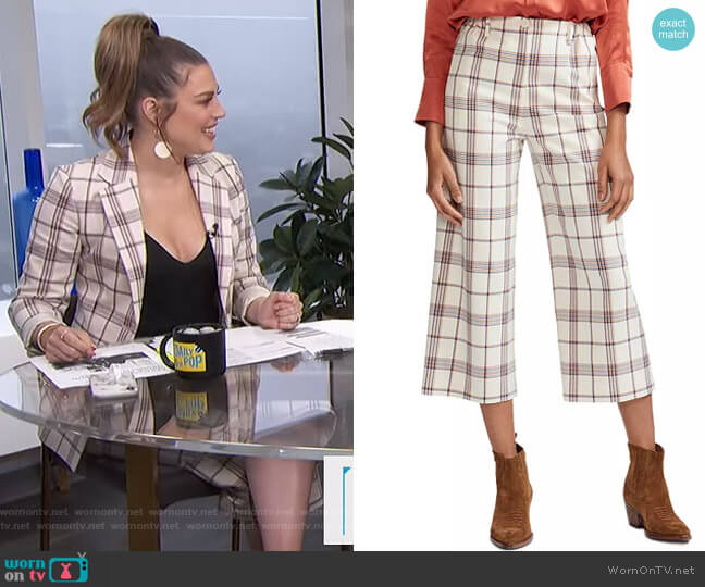 Persio Pants by Maje worn by Carissa Loethen Culiner  on E! News
