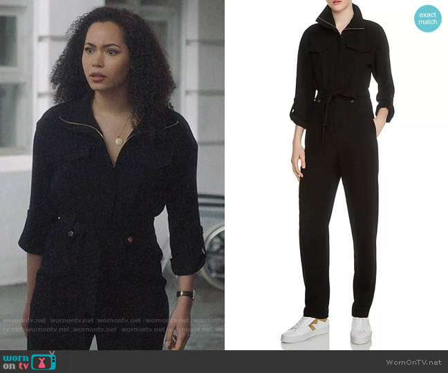 Maje Papritea Jumpsuit worn by Macy Vaughn (Madeleine Mantock) on Charmed