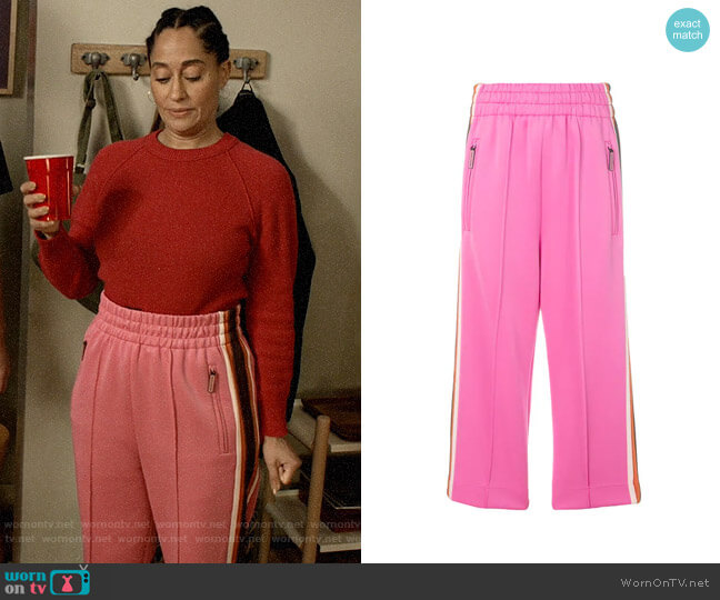 Marc Jacobs Cropped Track Trousers worn by Rainbow Johnson (Tracee Ellis Ross) on Blackish