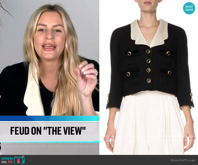 Wool Crop Blazer by Marc Jacobs worn by Morgan Stewart  on E! News