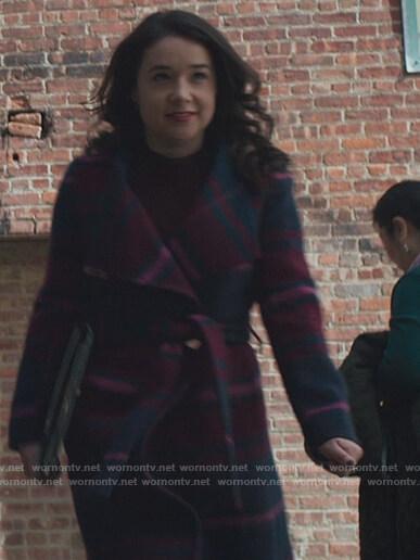 Carmen Moyo's white striped knit polo on The Good Fight
