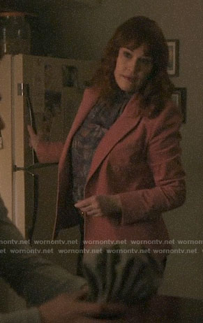 Mary's pink corduroy blazer on Riverdale