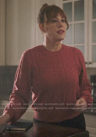 Mary's red sweater on Riverdale